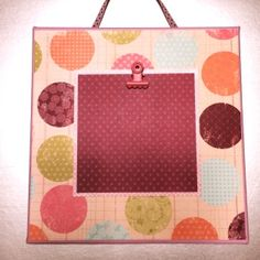 Colored Stretched Canvas  8X8 multi-colored patterned circles/pinkish purple polka dot