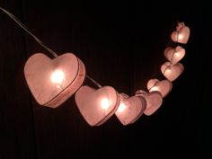 Hey, I found this really awesome Etsy listing at https://www.etsy.com/ie/listing/223098870/20-x-pink-heart-paper-string-light-for