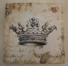 Crown Chic Art Print found at http://www.crownchic.com/gifts/crown-home-decor