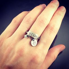 wild pawprint charm ring  sterling silver by NRjewellerydesign