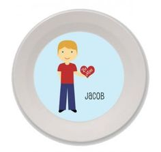 Personalized Valentine's Day Bowls for Kids (Boy)