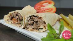 طريقة عمل سندويش شاورما اللحم - #Meat #shawarma #sandwich