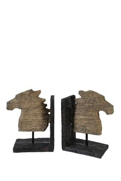 Horse Bookends by Rustic Chic Organization on @HauteLook