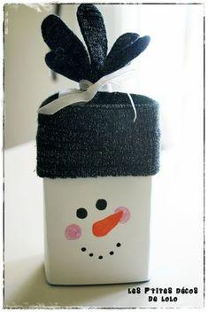 bonhomme de  neige brique de lait