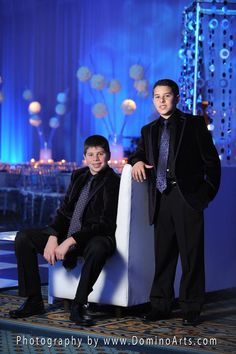 B'Nai #Mitzvah #Portrait of two very handsome and stylish #brothers by #DominoArts #Photography (www.DominoArts.com)