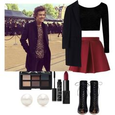 LFW Burberry with Harry (best friend)  by emma-horan-73 on Polyvore featuring polyvore, fashion, style, Boohoo, MSGM, P.A.R.O.S.H., Gianvito Rossi, Tiffany & Co. and NARS Cosmetics