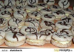 Laskonky z těsta recept - TopRecepty.cz Pavlova, Cake Cookies, Christmas Cookies, Doughnut, Sweet Recipes, Sweet Tooth, Cheesecake, Deserts, Sweets