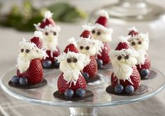 Strawberry Santas how to