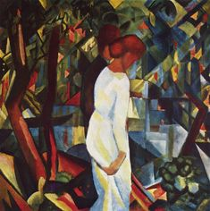 Couple in the woods by @augustmacke #orphism