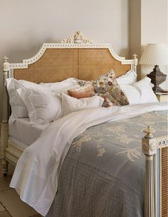 Juliet Caned Bed from And So To Bed. A touch of soft romance for an English cottage bedroom...http://www.andsotobed.co.uk/juliet-caned-bed.html