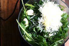 cuisinart with pesto ingredients
