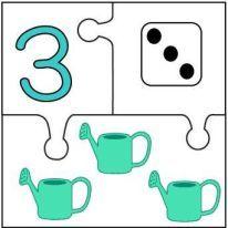 3 Preschool Learning Activities, Preschool Worksheets, Kindergarten Math, Preschool Activities, Numbers Preschool, Math Numbers, Puzzles Numeros, Cute Powerpoint Templates, Kindergarten Coloring Pages