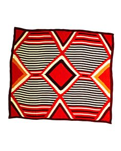 an 1885 blanket inspired this silk Navajo Chief design scarf