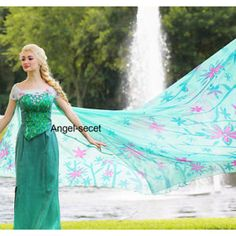 CL18 adult Frozen Fever Queen ELSA Cosplay Costume Dress cloak cape green women Item specifics Condition: New with tags: A brand-new, unused, and unworn item (including handmade items) in the original packaging (such as the original box or bag) and/or with the original tags attached. See all condition definitions- opens in a new window or tab ... Read moreabout the condition Bran