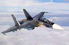 A Russian Air Force  Sukhoi Su-30SM.