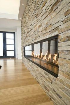 ethanol kamin steinplatten wand hell unbedingt kaufen pinterest - Steinplatte Kamin Surround