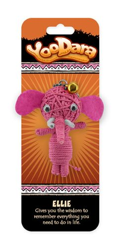 YooDara Good Luck Charms - Ellie gives you the wisdom to remember everything you need to do in life. #voodoo doll #string doll