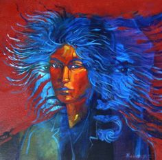 Sacred Woman by Darcy Nicholas NZ artist Artist Painting, New Zealand Art, Indian Art, Modern Indian Art, Painting, Art, Dream Artwork, Contemporary Art, Nz Art