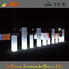Dekoratif led bahçe saksı aydınlatma/dekoratif iç mekan sütunları