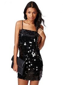Solid Bodycon Sequins Womens Slip Dress img