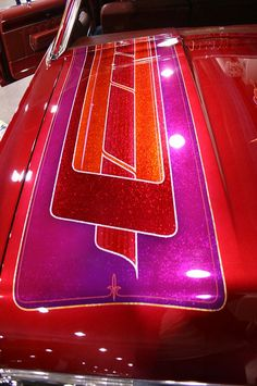 wanna see WILD custom paint. Custom Car Paint Jobs, Custom Motorcycle Paint Jobs, Custom Cars, Auto Paint, Lace Painting, Painting Patterns, Roof Paint, Candy Paint, Lowrider Art