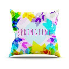 Kess InHouse Sreetama Ray Seasons Rainbow Leaves Indoor / Outdoor Throw Pillow - SR1010AOP02