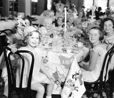 miss-shirley-temple:Shirley Temple at her birthday party held at 20th Century Fox, 1935.She didn't know any of the children at this party, they were children of studio executives and brought in for publicity.