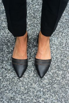 Work Wear: A close up of The Classy Cubicle's work flat pick.