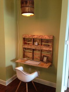 Pallet Wood FoldOut Desk by WorkmansPalette on Etsy