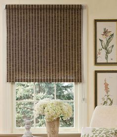 Driftwood Roller Shade - Espresso/Walnut from Country Curtains
