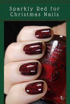Christmas Nail Polish Color - Holiday Nails - Red glitter nail polish takes you off on a fantastical journey. contains China clay as a nail hardener and includes extra pigments and dyes. adhesives added to formula to secure the polish to all nail types plasticizers prevent chipping and provide flexibility free of DBP, toluene and added formaldehyde Made in America. #chinaglaze #nailpolish #nailart #sparkle #christmas #girlboss #momlife #affiliate