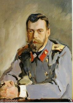 Tsar Nicolas in Uniform by V Serov 1900