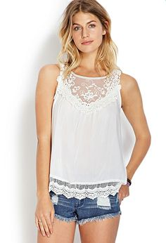Delicate Darling Crocheted Top | FOREVER21 - 2000124386