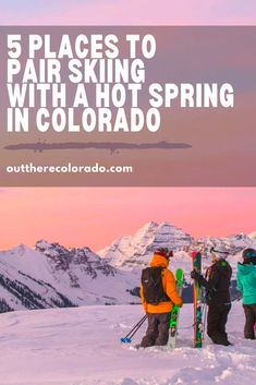 From the slopes to the springs, Colorado is an adventurous destination. Here are five spots where you can hit both the slopes and the springs. #OutThereColorado #Travel #Colorado #ColoradoVacation #ColoradoSprings #Denver #Breckenridge #RockyMountainNationalPark #Mountains #Adventure #ColoradoFall #ColoradoPhotography #ColoradoWildlife #Mountains #Explore #REI #optoutside Travel Blog, Usa Travel Guide, Travel Guides, Road Trip To Colorado, Visit Colorado, Colorado Springs, Snowboarding For Beginners, Strawberry Park Hot Springs, Springs Resort And Spa