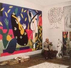 "pinkpagodastudio: Matisse- Cut-Outs--""Painting with Scissors"""
