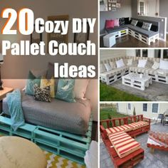 20 Cozy DIY Pallet Couch Ideas