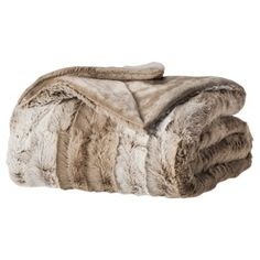 Threshold™ Faux Fur Throw @ Target @ $24.99 for family room brown leather couch