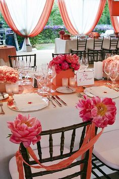 Summer Beach Wedding, Coral, outdoors || Colin Cowie Weddings