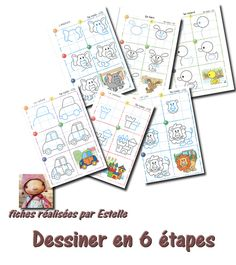 dessiner en 6 étapes Montessori Classroom, School Classroom, Classroom Activities, Lessons For Kids, Art Lessons, Kindergarten Drawing, Activities For Boys, Ecole Art, Sketch Notes