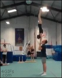 View Amazing gymnastics trick photo from Meme Guy - Funny Memes Cheer Stunts, Cheer Dance, Cheerleading, Beste Gif, Gymnastics Tricks, Amazing Gymnastics, Sport Fitness, Cool Stuff, Karate