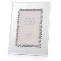 Glass Mirror Frames | Home 6x4 Photo Frames Pink Diamante Mirror and Glass 4 x 6 Photo Frame