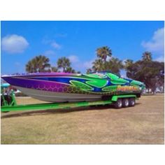 Get a colorful new boat wrap for the summer! Maybe some day I can have something like this