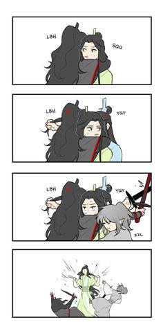 Systems Art, Ghost Cat, Handsome Anime Guys, The Grandmaster, Cute Chibi, Shounen Ai, The Villain, Light Novel, Memes