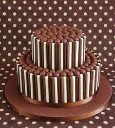 Bolo de Chocolate para Aniversário -