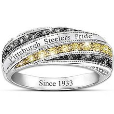 Steelers In Vogue Officially Licensed Pittsburgh Steelers Womens Ring. Steelers Rings, Pitsburgh Steelers, Pittsburgh Steelers Football, Steelers Stuff, Pittsburgh Sports, Football Team, Steeler Nation, Fashion Rings, Just In Case