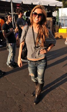 Audrina Patridge. Love the hint of edge she adds to her looks.