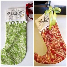 3 custom christmas stockings this listing is for by atcompanyb love the red one too burlap pinterest christmas stockings custom christmas - Custom Christmas Stockings