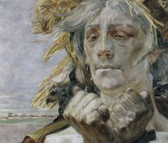 Jacek Malczewski - A Polish Hamlet: Portrait of Eleksander Wielopolski (Detail) Vienna Secession, Romanticism, Portrait Art, Art And Architecture, Figurative Art, Golden Age, Mythology, Imagination, Faces