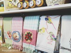 Anthropologie Tea Towels Display