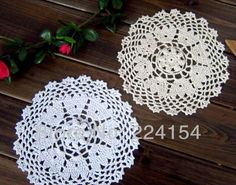 Aliexpress.com : Buy 20cs/lot Hand crocheted doilies wholesales price for wedding decor  FREE SHIPPING!!! from Reliable crochet doilies suppliers on Handmade Shop $16.80
